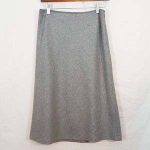 Gap recycled wool herringbone tweed midi skirt